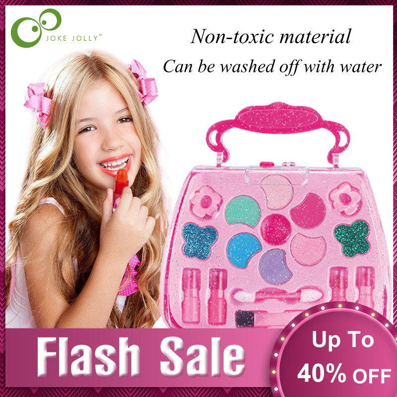 Pretend Play Girls  Kit Safe Non-toxic Toys Makeup Set Preschool Kids Beauty Safety Toy For Children Girl Makeup GYH