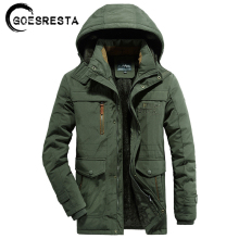 Thick Jacket Parkas Windbreaker Coat Men Fleece Warm Military Winter Casual M-6XL Hat