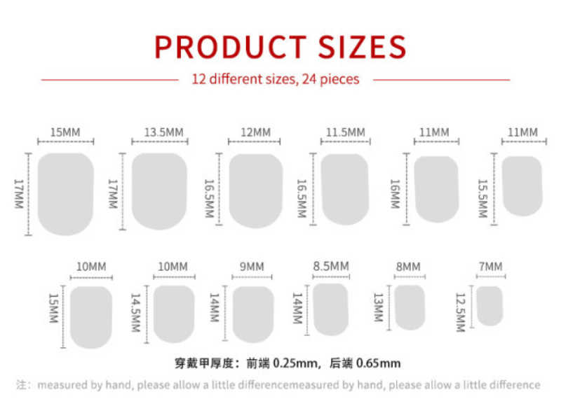 24 قطعة الأظافر وهمية قابلة لإعادة الاستخدام عصا على الأظافر غطاء كامل أظافر صناعية نصائح اصطناعية للزينة مع تصميم اضغط على الأظافر