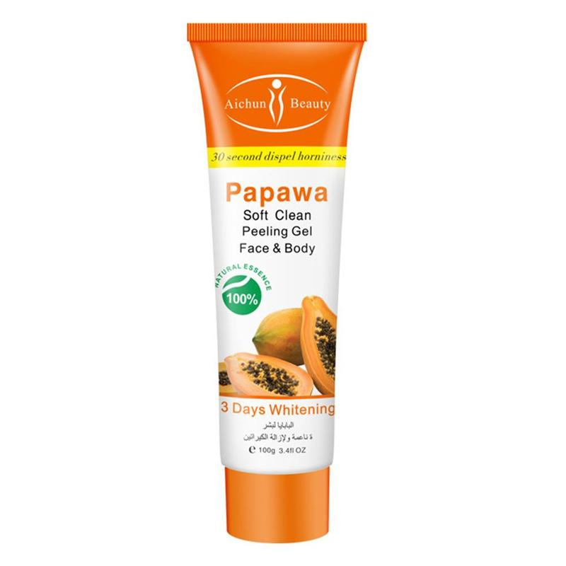 Papaya Facial Deep Cleansing Scrub Face Cream Peeling Gel Face Body Skin Moisturizing Face Whitening Cream Hand Body Skin Care