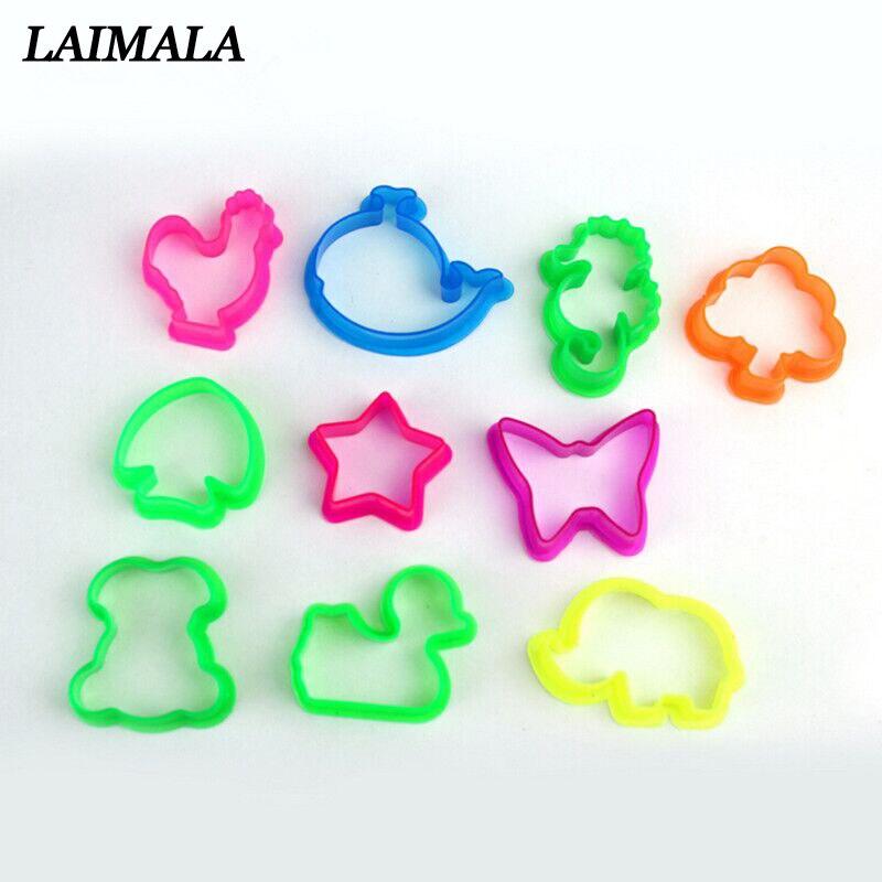 10 pièces/ensemble couleur aléatoire Plasticine moule forme animale moule d'argile bébé enfants jouets animaux argile pâte à modeler moule outil jouets
