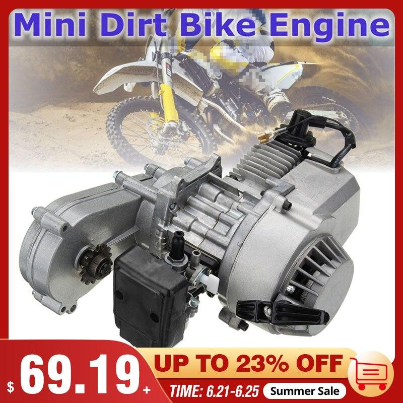 Карбюратор с 2-тактным пуском, воздушный фильтр коробки передач 49cc 47cc, полный двигатель для мотоцикла, мини-питбайка