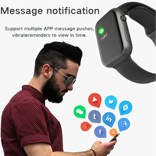 2019 Hot Sale Smart Watch Heart Rate Blood Pressure Monitor Smart Watch Women Smartwatch Men 4 for Apple IOS Android Phone