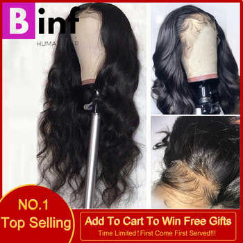 Body Wave13x4 Lace Front Human Hair Wigs High Ration Brazilian Remy Hair Pre-Pluck With Baby Hair150% Density 8-24 Inch Color1b - DISCOUNT ITEM  58% OFF All Category