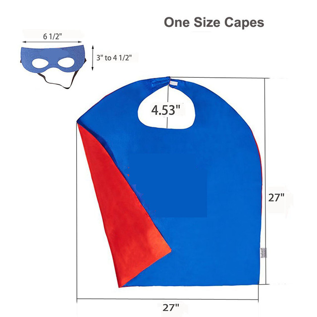 2019 Superhero Capes with Masks for Kids Birthday Party Supplies Party Favor Halloween Costumes Dress Up Girls Boys Cosplay 3