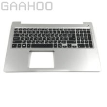 Ru teclado russo palmrest para dell INSPIRON15-5000 5570 5575 conjunto de palmrest ru teclado sliver/preto