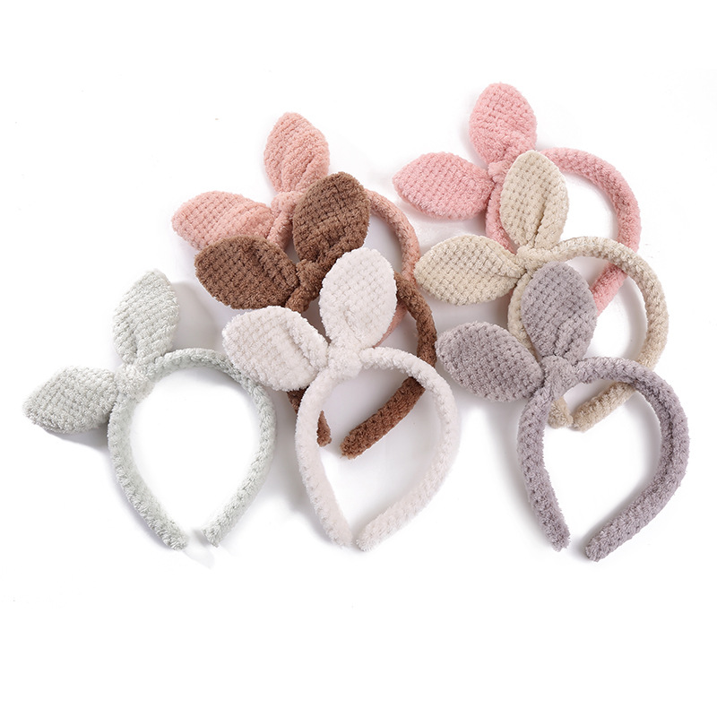 New Version Of The Lavarse La Cara Diadema Hoop Bow Pearl Headwear Rabbit Ear Hair Band Makeup Lady Hair Band Hair Accessories