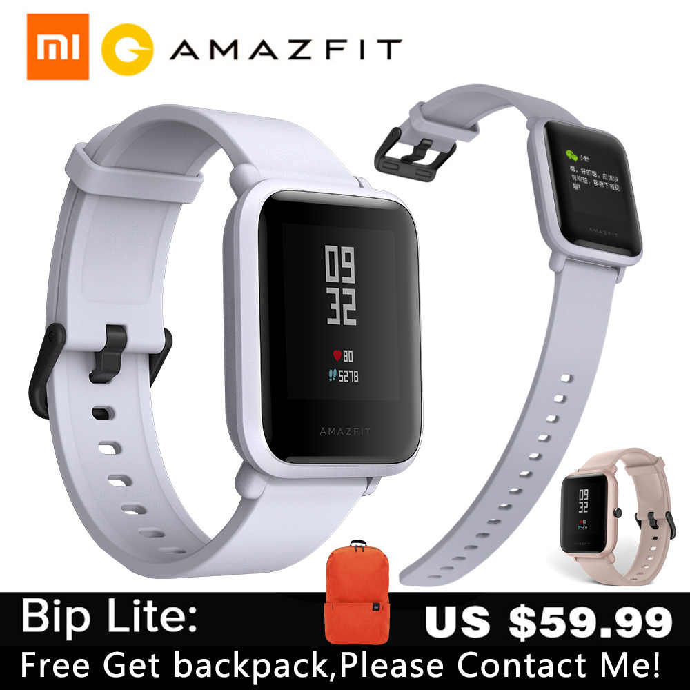Xiaomi huami Amazfit Bip Youth Men Women SmartWatch 2 GPS Bluetooth Heart Rate Huami xiaomi Amazfit Bip Lite pk BIP GTS