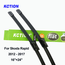 Windshield front wiper blade windscreen rear car accessories for Skoda Rapid Fit Push Button Arms 2012 2013 2014 2015 2016