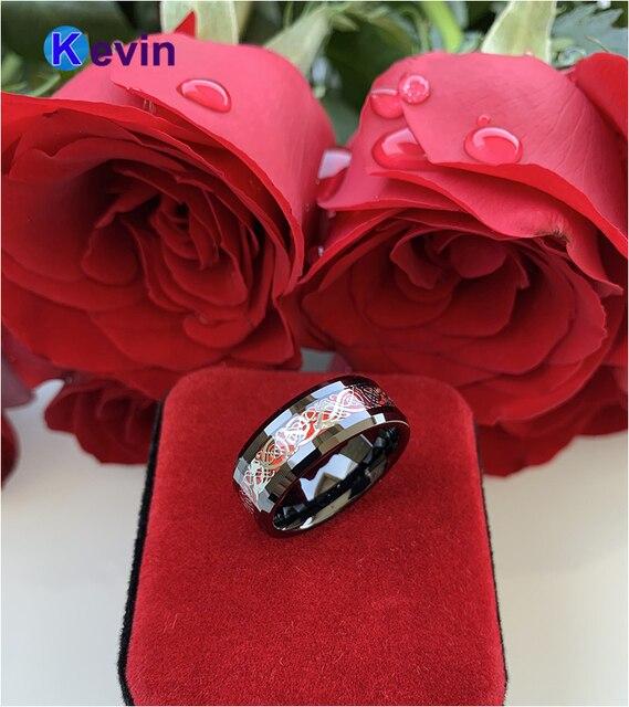 Обручальное кольцо из вольфрама для мужчин и женщин удобный