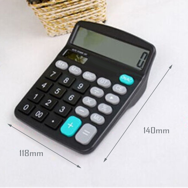 Solar Power Powered Battery Digit Calculator Desktop Large Dual Power Supply