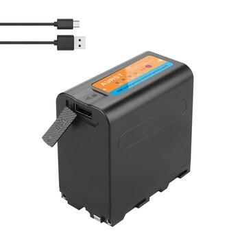 8800mAh NP-F980 NP-F970 F960 de batería con Cable USB indicador LED para Sony F960 F550 F570 F750 F770 MC1500C Luz de vídeo