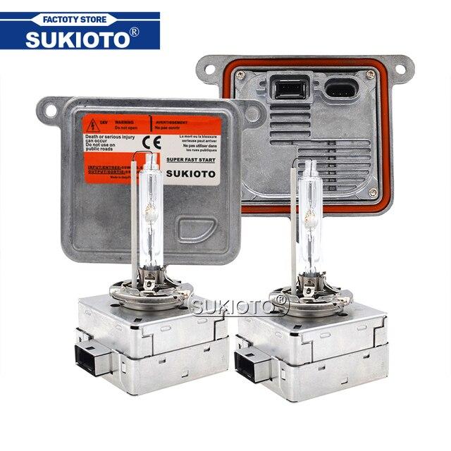 Sukioto 정품 55 w 크세논 d1s hid 헤드 라이트 밸러스트 키트 d3s 6000 k 4300 k 5000 k 8000 k 금속 d1s d3s 자동차 라이트 크세논 램프 전구 키트