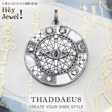 Pendentif amulette symboles mystiques, 2020 bijoux de mode Europe à la mode optimisme accessoire 925 en argent Sterling cadeau pour femme hommes