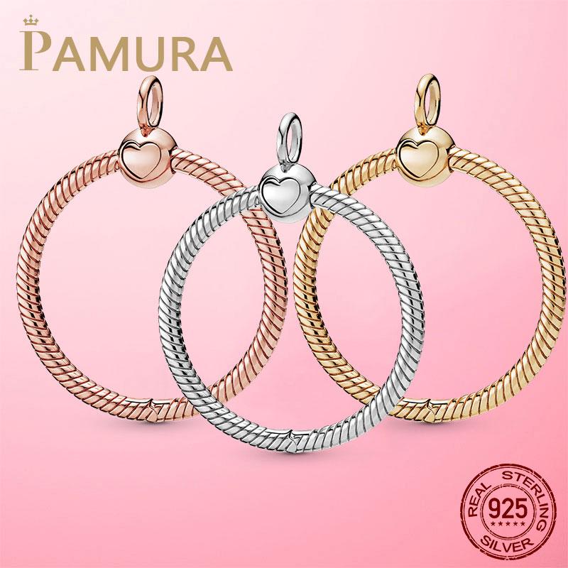 Venda quente 925 prata esterlina o pingente caber original pamura colar diy charme contas jóias presente