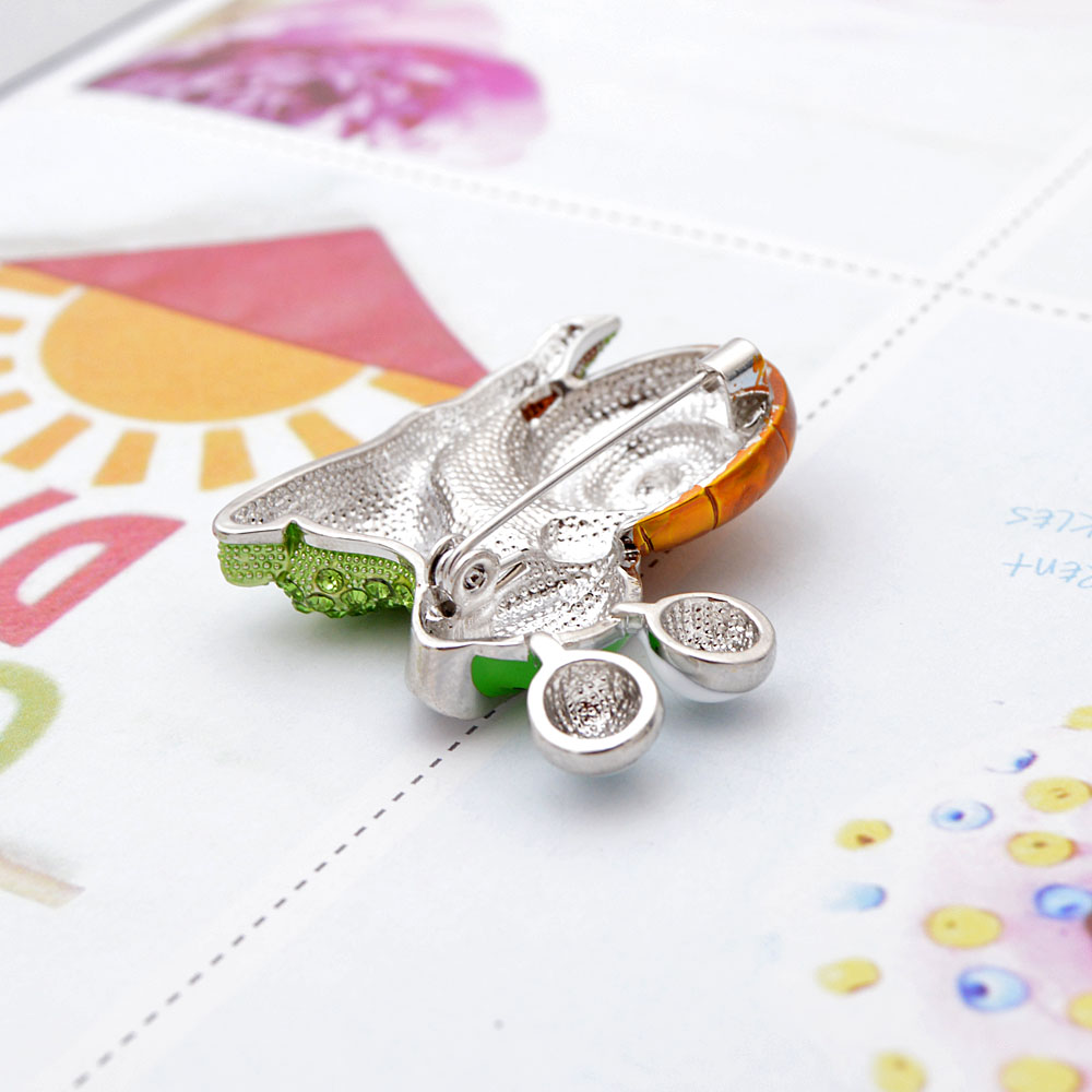 CINDY XIANG Rhinestone Laugh Snail Brooch Cartoon Insect Funny Brooches For Women Enamel Jewelry Autumn Winter Design Pin Gift 6