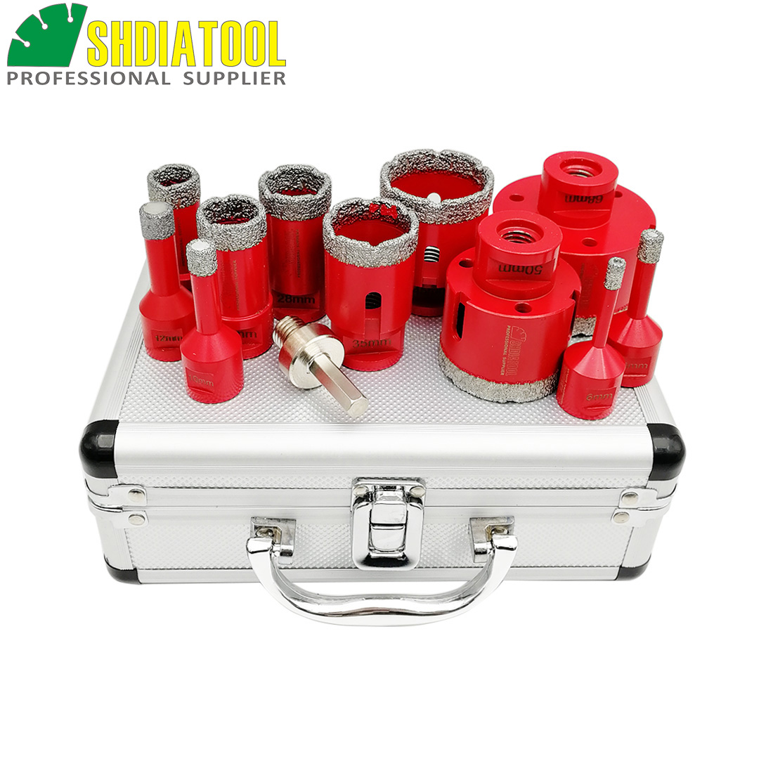 SHDIATOOL 12pcs/pk Vacuum Brazed Diamond Drill Core Bit M14 Thread Drilling Bits Marble Ceramic Hole Saw Porcelain Tiles Crown