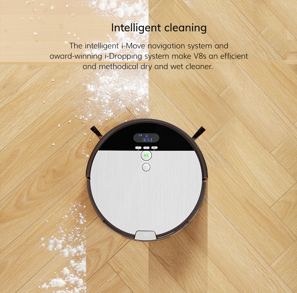 Hc96324958ec142a8b055787d9347e788Y ILIFE V8s Robot Vacuum Cleaner Sweep&Wet Mop Navigation Planned Cleaning large Dustbin large Water Tank Schedule disinfection