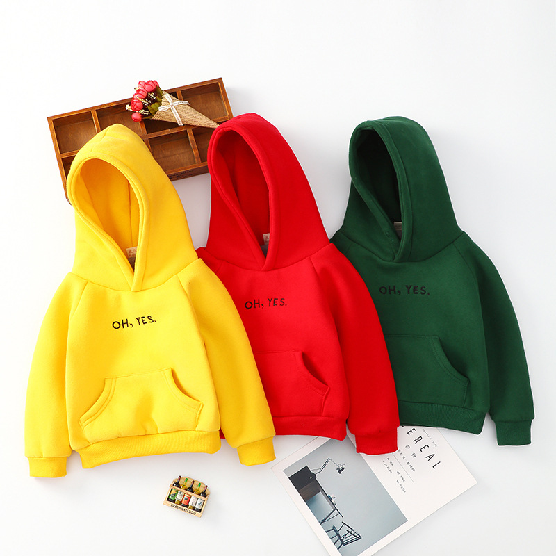 Kids Hoodies Sweatshirts Letters Baby-Boys-Girls Fashion Children New Print Cotton 3-Colors