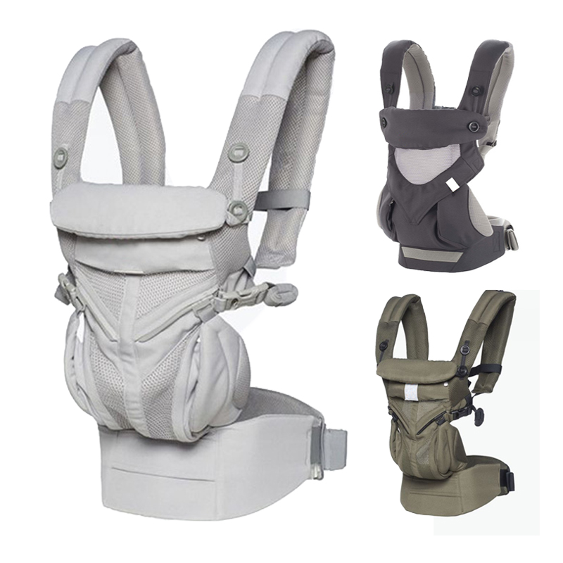 Ergonomic Baby Carrier Breathable Omni 360 Cool Air Mesh Baby Carrier Backpack Organic Cotton Four Position 360 Infant Sling