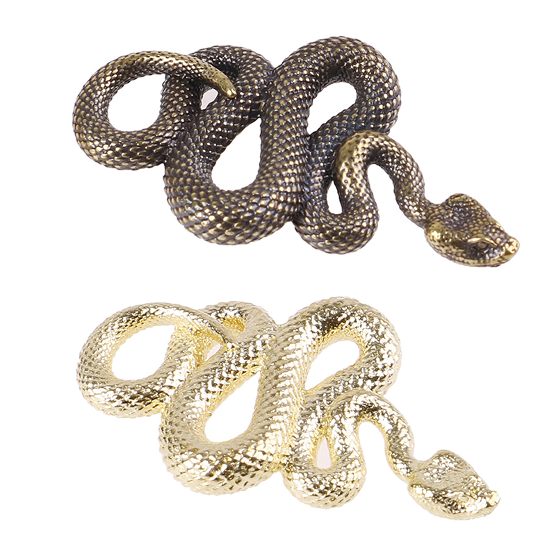 Brass Snake Key Ring Boa Key chain Outdoor Accessories EDC Copper Snake Car Hanging