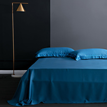 100% mulberry silk Bed Sheet Solid Color Flat Sheets Bedding real silk for King Queen Size Bedding Sheet Home textile