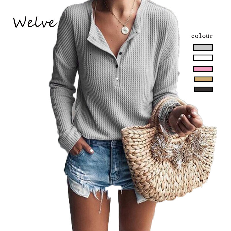 Welve sweater women invierno 2019 Autumn Winter  turtleneck long sleeve womens Solid Colors Sweater casual