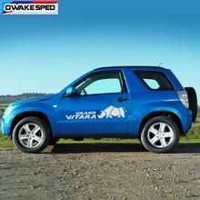 2 sztuk korpus drzwi samochodu naklejki dla Suzuki Grand Vitara AT MT 4X4 OFF ROAD stylizacja sportowa paski Auto obie strony naklejki dekoracyjne