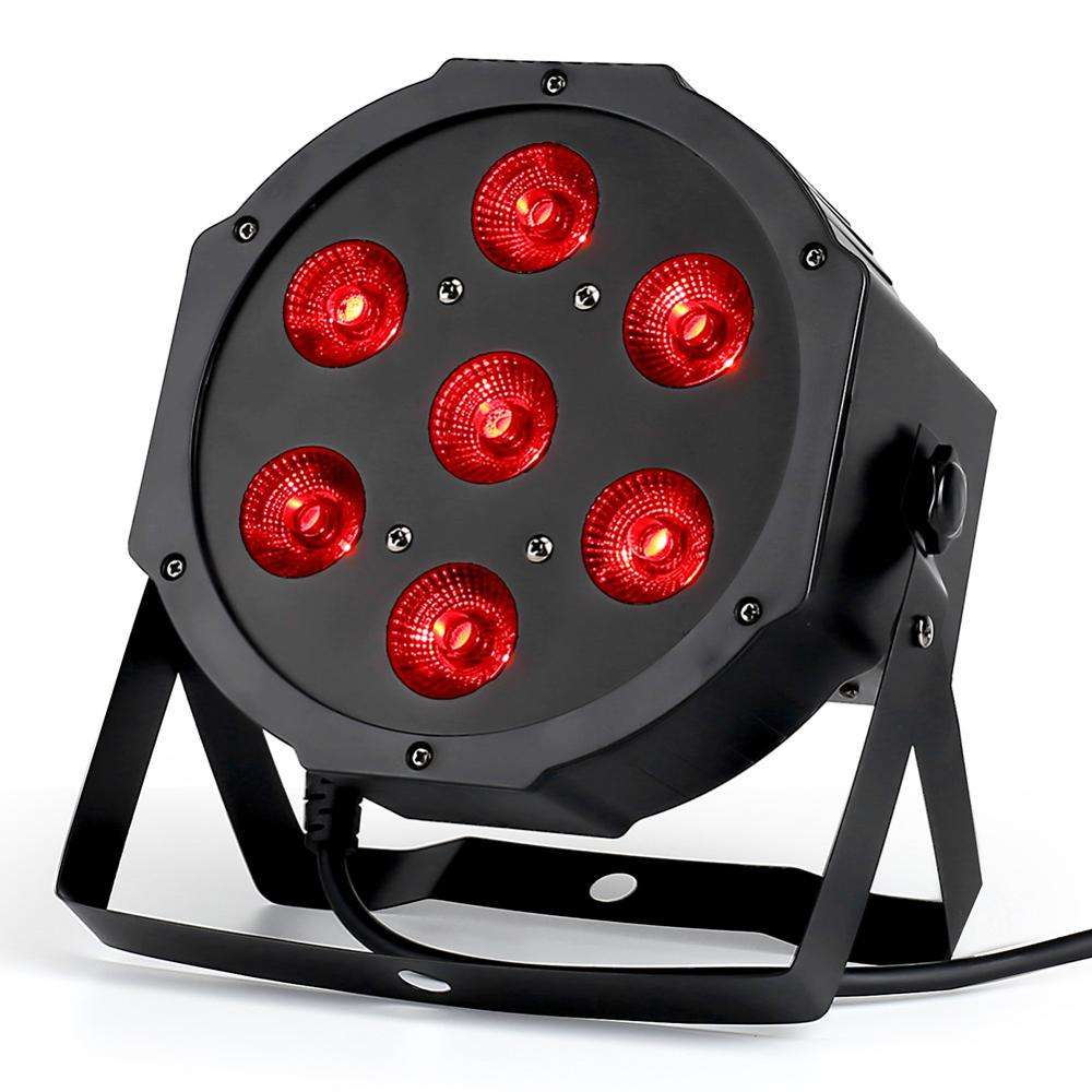 7x18W LED Par Lights RGBWA UV 6in1 Flat Par Led Dmx512 Disco Lights Professional Stage Dj Equipment
