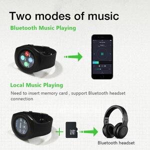 Image 4 - Y1 برو ساعة ذكية كاميرا مستديرة بلوتوث بطاقة SIM SmartWatch التحكم عن بعد الإناث الذكور اللياقة البدنية منظم ضربات القلب الرياضة ساعة