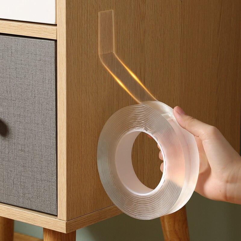 Cinta adhesiva Nano de doble cara para cocina y baño, sello de agua reutilizable, accesorio de alfombra, marco de fotos de coche y baño, sello de pared para el hogar, 3M