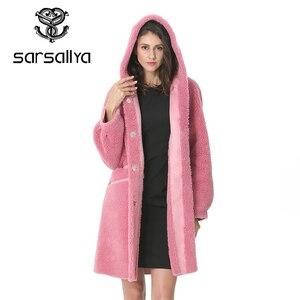 Image 1 - Kadın yün ceket kış kadın uzun ceket Hood sonbahar yün Blend Peacoat kız sıcak kaşmir palto bayanlar pembe güz 2020 zarif