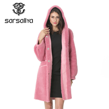 Women Wool Coat Winter Female Long Coat Hood Autumn Woolen Blend Peacoat Girls Warm Cashmere Coats Ladies Pink Fall 2020 Elegant