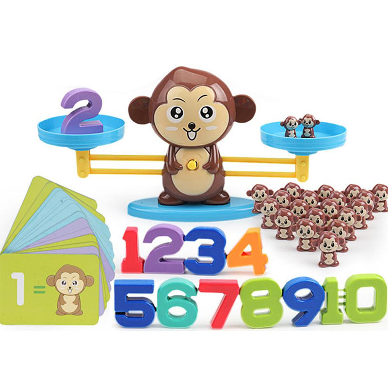 New Fun Math Kiddie Scale Calculator Cartoon Monkey Intelligence Early Education Toy 2019 Kids Learning Education Toys Gift