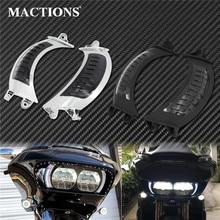Motorcycle LED Side Marker Turn Signal Amber Light Dual Running Lamp Lights For Harley Touring Road Glide FLTRX 2014 2018 2019