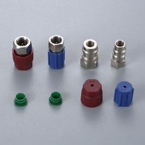 Image 2 - Straight Adapters w/ Valve Core & Service Port Caps R12 R22 to R134a Retrofit Parts Kit Conversion Adapter Valve