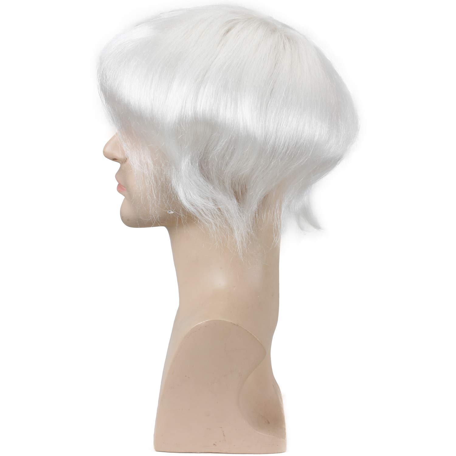 Eseewigs Durable Breathable french Lace Men's Toupee European Real Human Hair Replacement for Men Hairpiece White Color