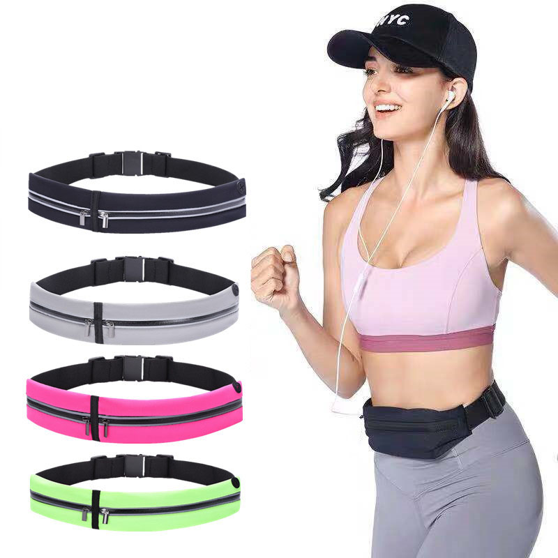 Running Belt Waist Lycra Waterproof Multifunctional 6In Phone Pouch Trail Sports Band Fanny Pack Gym Bag Accessories For Men