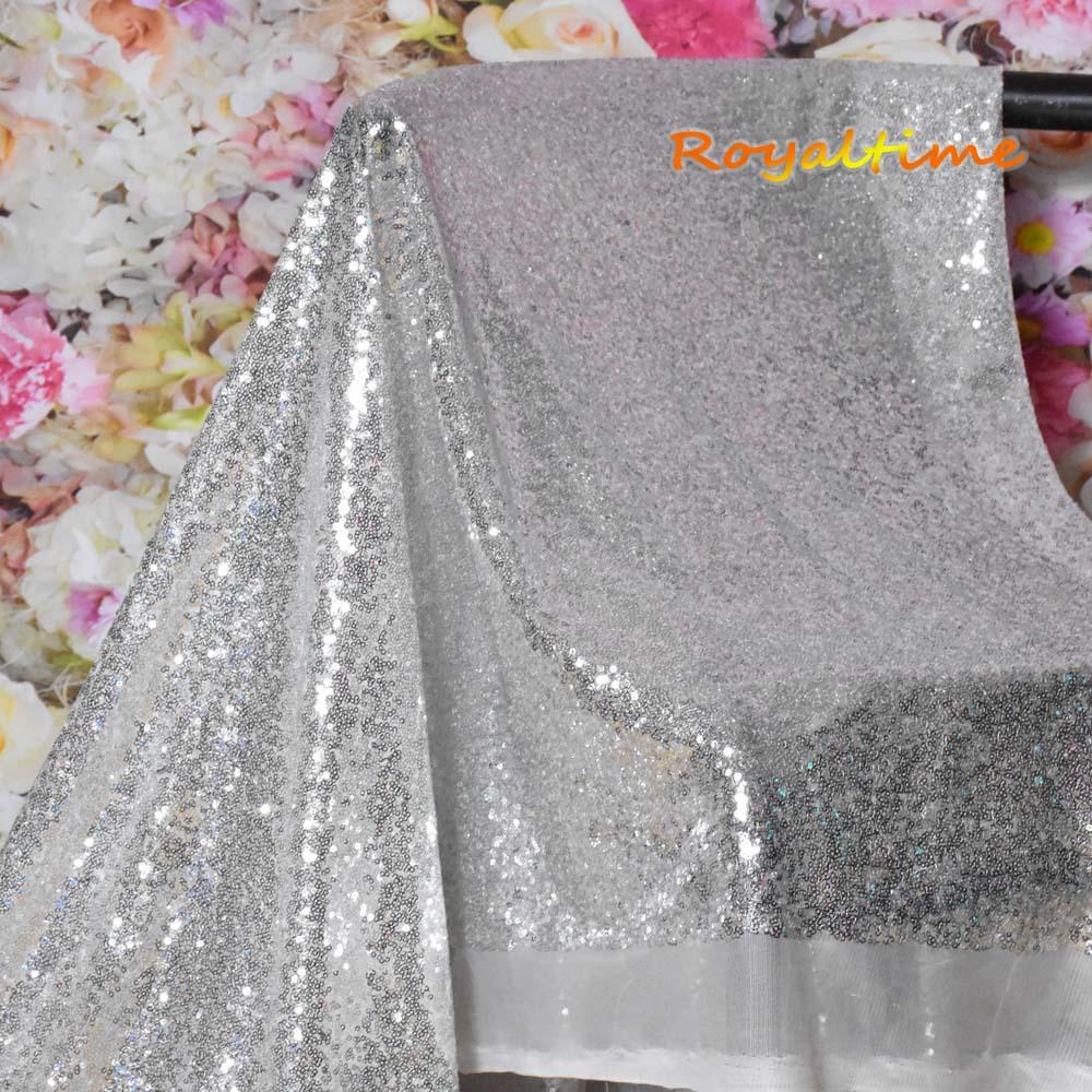 Silver Sequin Fabric 003