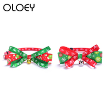 Adjustable Collar for Cats With Bell Christmas Lovely Bowknot Tie Accessories Pets Dog Kitten Quick Release Collars Product