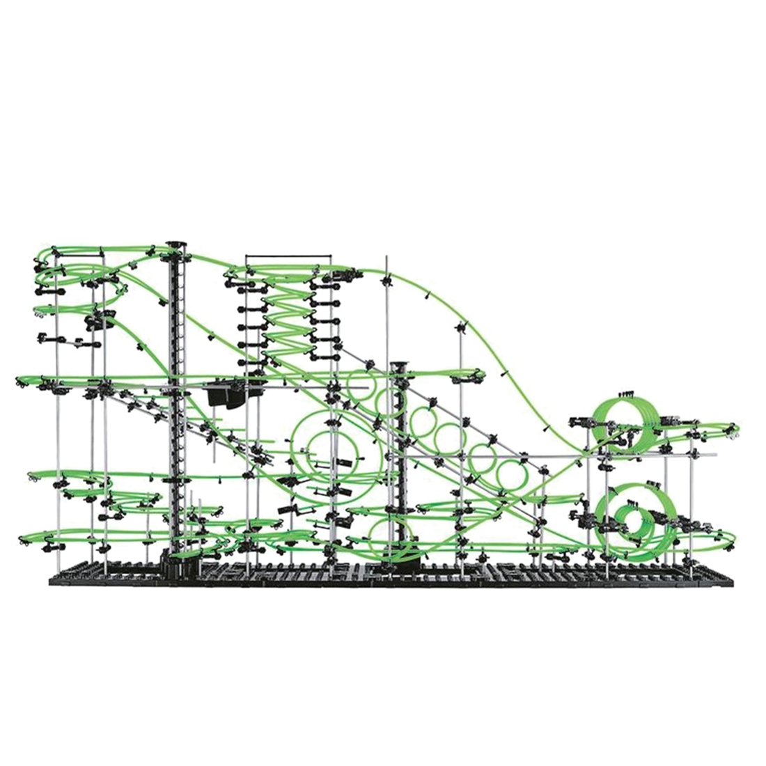 1337pcs/879pcs/848pcs/699pcs Level 8 7 6 5 Marble Roller Coaster Kit Space Rail With 8/6/5 Steel Balls Glow In The Dark For Kids