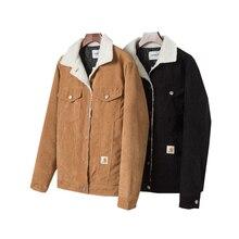 Hiver 2021 nouveau japonais décontracté et confortable haute rue Plus velours épais couleur unie ample Couple veste
