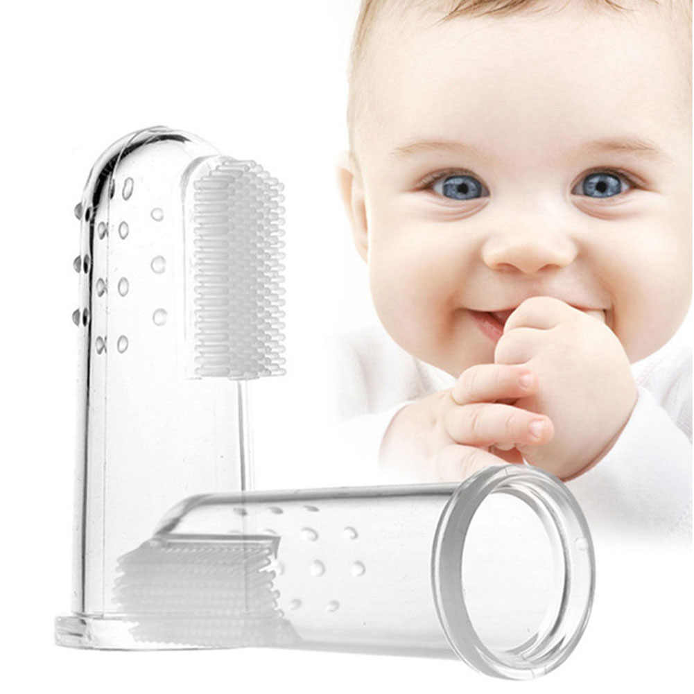 Dental Care Baby Toothbrush Kids Silicone Finger Brush Clear Massage Soft Teether With Box For Infant Boy Girl Teeth