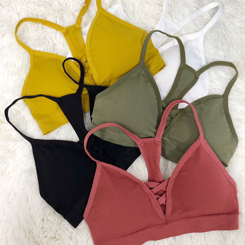 Women Tank Crop Tops Seamless Underwear Female Sport Top Sexy Lingerie V Neck Sleeveless Camis Women Crop Top Padded Camisole