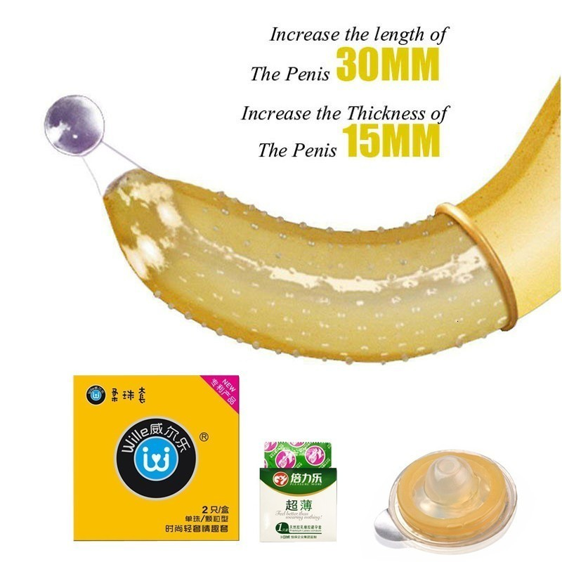 Special Condom With Silicone Ball Penis Extender Sleeve Spike Ribbed G Spot Stimulation Adult Sex Products For Couple image