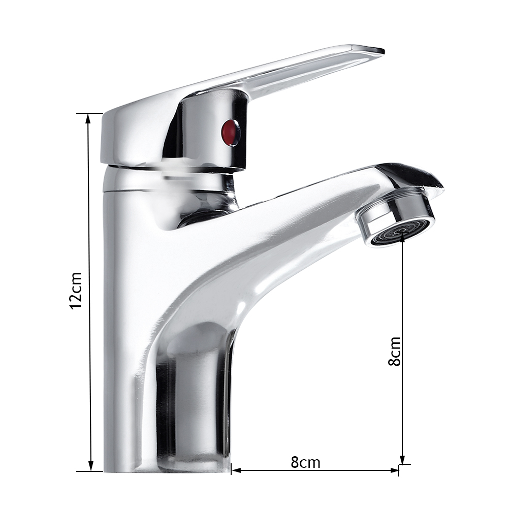 Купить с кэшбэком XUNSHINI Bathroom Basin Sink Faucet Chrome Single Handle Kitchen Tap Faucet Mixer water hose Chrome Finished Mixer Tap