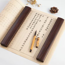 Paperweight Solid Wood 2cps Chinese Calligraphy Special Paperweight Traditional Carving Crafts Wooden PaperWeights Paper Press