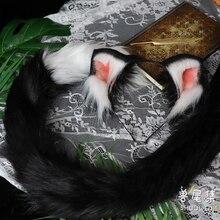 MMGG جديد اليدوى المتطابقة الأذن القط الذيل تأثيري لوليتا نمط زي اكسسوارات مخصص فقط الذيل