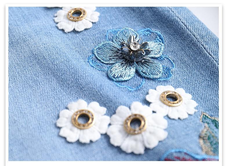 KSTUN FERZIGE One-step Skirts Women High Waistd Light Blue Elastic Waist Denim Skirts Pencils  Jeans Skirt Slim Fit Embroidered Beads 20