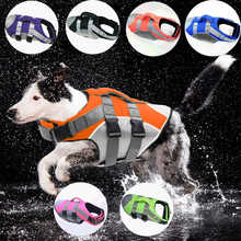 Pet Dog Life Jacket Safety Vest Dog Clothes Dog Swimsuit Pet Swimsuit Summer Vacation Oxford Reflective Breathable Bulldog
